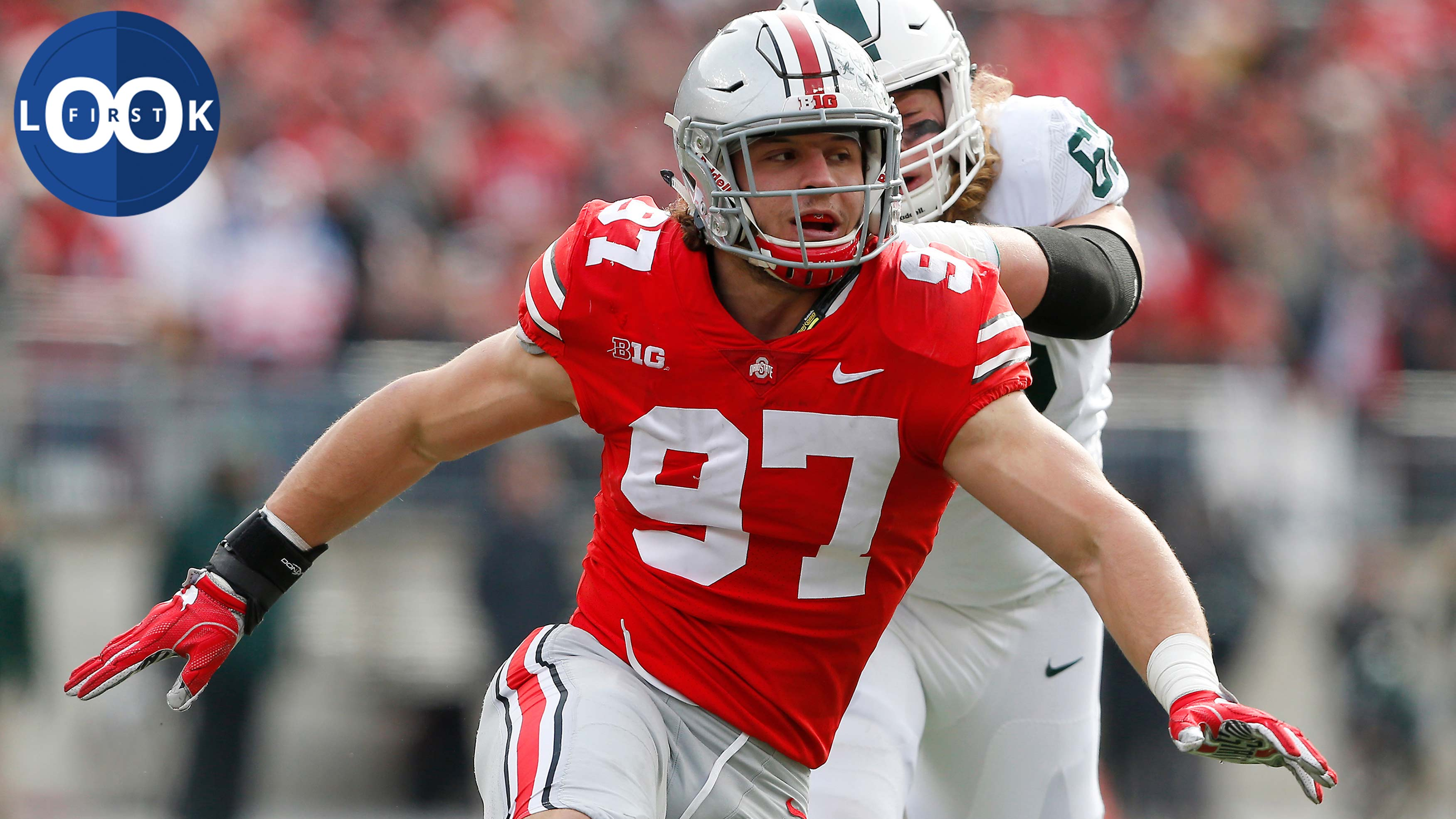 buy popular deb00 7c9be Scouting Nick Bosa: Ohio State DE dominant like brother Joey ...