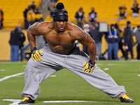 James Harrison performs his craziest workout yet