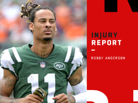 Injuries: Jets WR Robby Anderson uncertain vs. Bears thumbnail