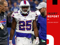 Injuries: LeSean McCoy remains in concussion protocol