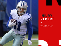 Injuries: Cole Beasley officially active vs. Rams thumbnail
