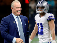 Jones responds to Cole Beasley's WR target claim thumbnail