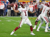 Oklahoma's Kyler Murray reportedly up to 206 pounds thumbnail