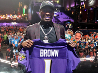 Ravens draft Marquise Brown, first WR off board thumbnail