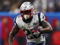 Patriots' Sony Michel running at full tilt after scope thumbnail