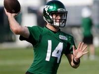 Jets' Sam Darnold throwing with 'a lot more velocity' thumbnail