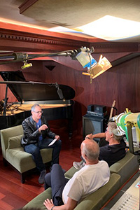 Mike Silver interviews The Who at NightBird Recording Studios in the Sunset Marquis Hotel.