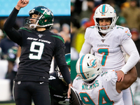 Jets, Dolphins combine for NFL-record 10 made FGs thumbnail