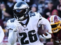 Eagles' Miles Sanders: 'Put the game on my shoulders' thumbnail