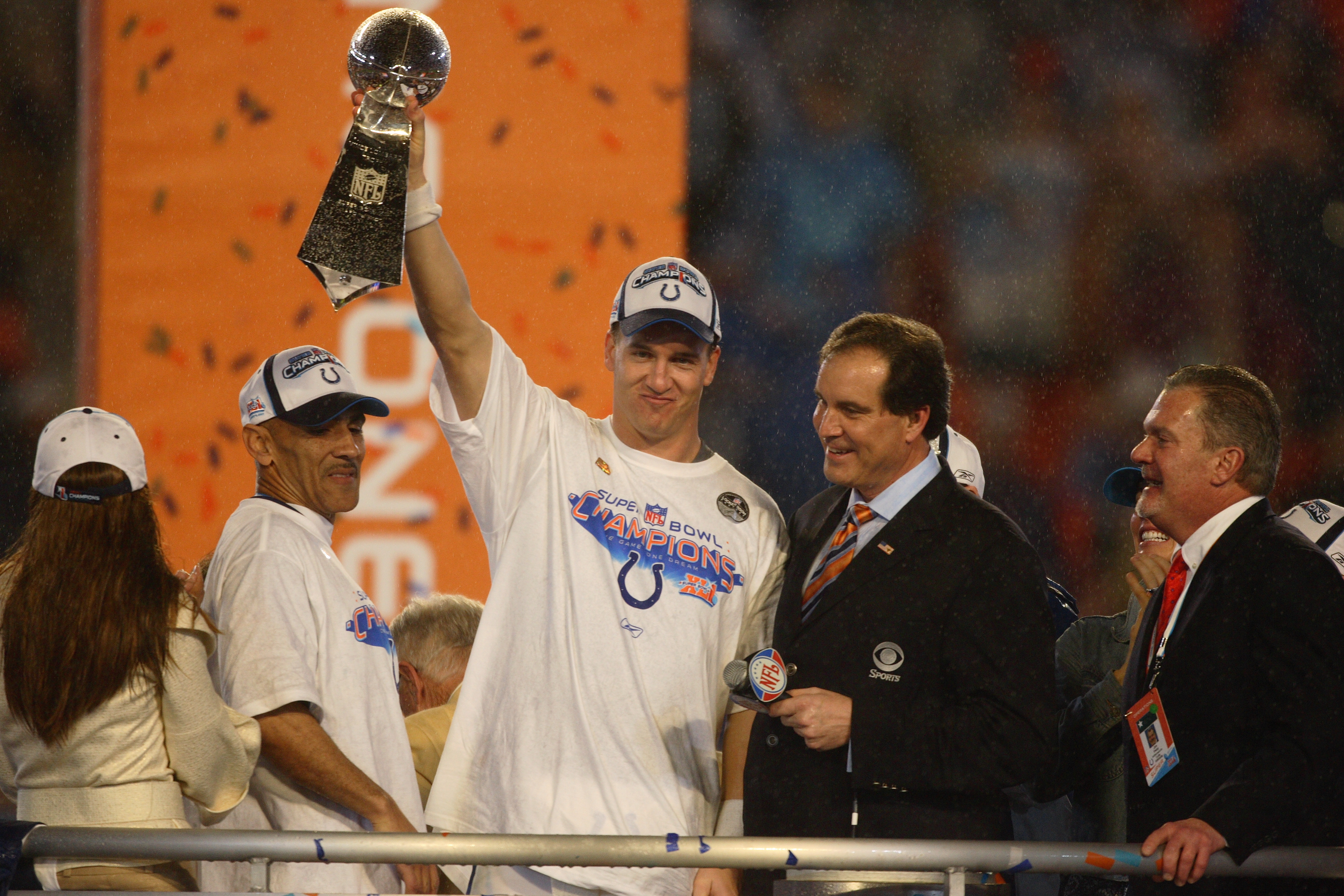 407b3510c Peyton Manning earned his first championship when he led the Indianapolis  Colts over the Chicago Bears in Super Bowl XLI. He was also named the Super  Bowl ...