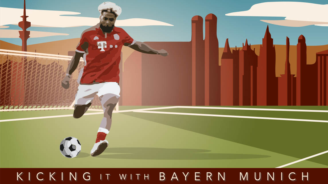OBJ kicks it with FC Bayern Munich