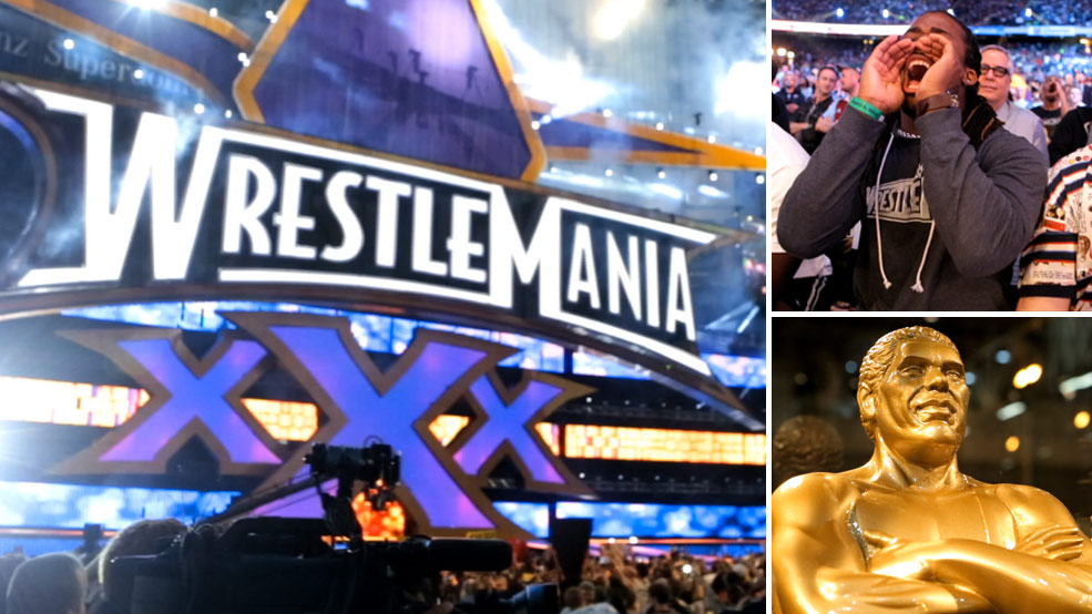 DeAngelo Williams goes Total Axxess at WrestleMania