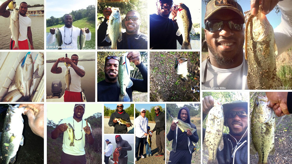 Fishing with Patrick Willis!
