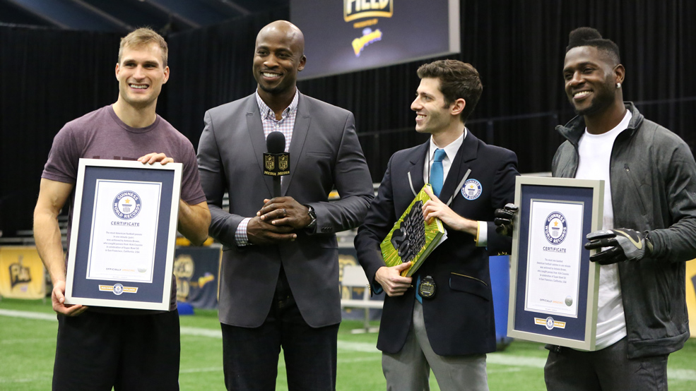 Antonio Brown and Kirk Cousins break Guinness World records!