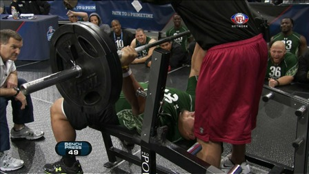 Stephen Paea Sets Bench Press Record At Nfl Scouting Combine Nfl