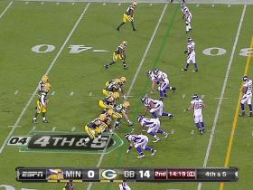 QB Rodgers to TE Finley, 25-yd, pass, 4th down conversion
