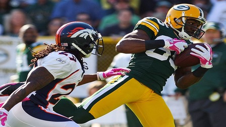 broncos vs packers score nfl playoff online