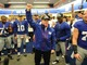 Watch: A Giant in the locker room