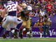 Watch: Gore fumble recovered by Vikings