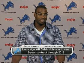 Video - Calvin Johnson excited about new contract