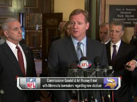 Video - Goodell discusses a new stadium in Minnesota