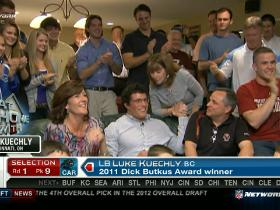 Video - Panthers pick Luke Kuechly No. 9