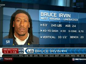 Video - Seahawks pick Bruce Irvin No. 15