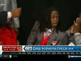 Video - Bengals pick Dre Kirkpatrick No. 17