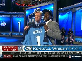 Video - Titans pick Kendall Wright No. 20