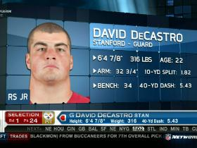 Video - Steelers pick David DeCastro No. 24