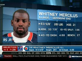 Video - Texans pick Whitney Mercilus No. 26
