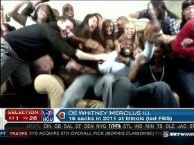 Video - Mercilus family goes nuts