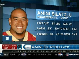Video - Panthers pick Amini Silatolu No. 40