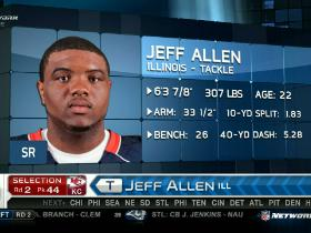 Video - Chiefs pick Jeff Allen No. 44