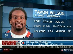 Video - Patriots pick Tavon Wilson No. 48