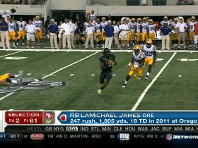 Video - 49ers pick LaMichael James No. 61