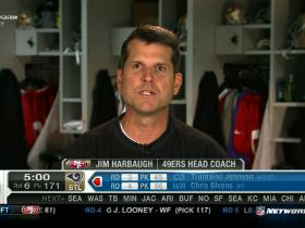Video - Jim Harbaugh checks in