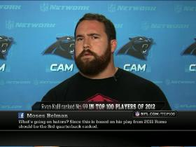 Video - Top 100: Ryan Kalil reacts to ranking