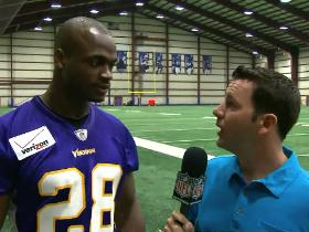 Watch: Adrian Peterson one-on-one