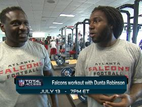 Watch: Falcons workout all-access with Dunta Robinson