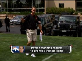 Video - Peyton Manning arrives at Broncos camp