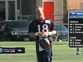 Video - Peyton Manning hits the practice field