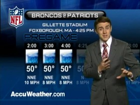 Video - Weather update: Broncos  @ Patriots