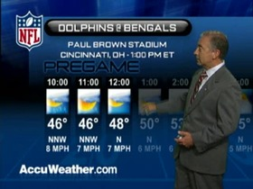 Video - Weather update: Dolphins  @ Bengals