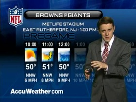 Video - Weather update: Browns  @ Giants