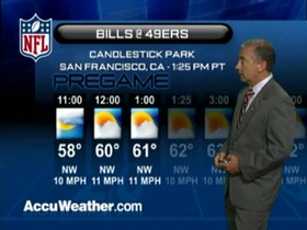Video - Weather update: Bills  @ 49ers