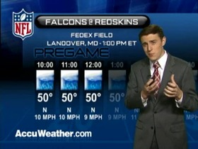 Video - Weather update: Falcons  @ Redskins