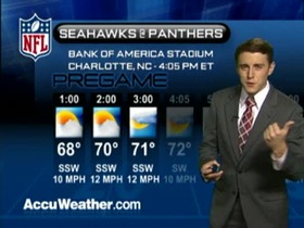 Video - Weather update: Seahawks  @ Panthers