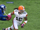 Watch: Cribbs fumbles on kick return