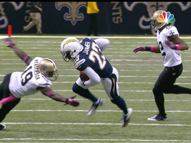 Video - Jammer picks off Brees